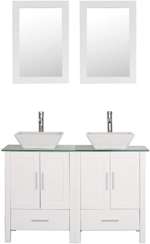 Amazon Com Goodyo 48 Inches Double Sink Bathroom Vanity Cabinet