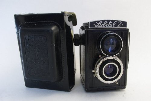 Original Soviet LOMO Lubitel 2 Twin Lens Reflex Camera with Special Edition Case and 120 Film