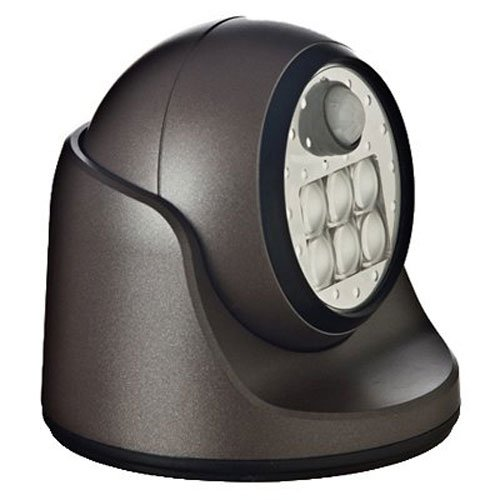 Light It! By Fulcrum, 6-LED Motion Sensor Security Light, Wireless, Battery Operated, Bronze