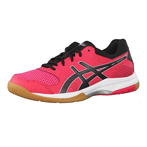 8 Femme rocket Gel Redblackwhite rouge De Chaussures Asics Rose 1990 Volleyball nARpq