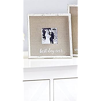 Amazon.com - Mud Pie 4695365 Best Day Ever Linen Frame, 4\