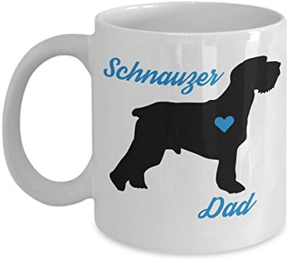 5789797974f Schnauzer Dad Mug - Cute Coffee Cup For Schnauzer Lovers - Best Christmas &  Father's Day Gift For Men Dog Owners - Novelty Pet Quote Statement  Accessories