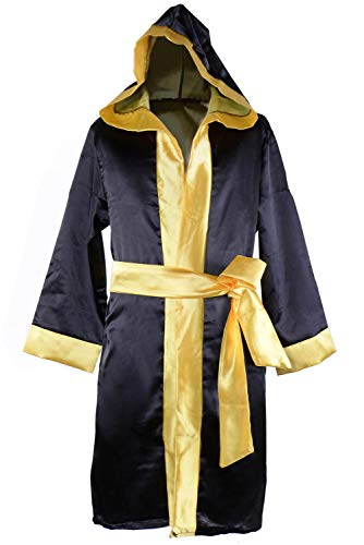 (COSMOVIE Kids Rocky Balboa Boxing Costume for Boys Halloween Cosplay Suit Italian Stallion Boxing Cloak with Shorts)