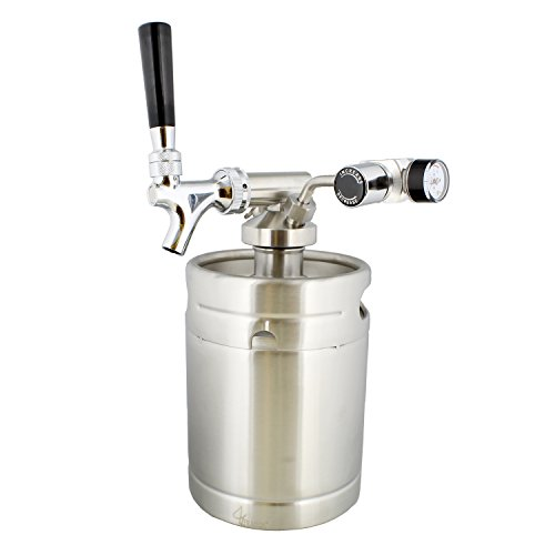 - Mini Keg with Mini Keg Regulator and Beer Dispenser, 64 oz - Portable Keg Draft Beer Dispenser, Portable Beer Dispenser