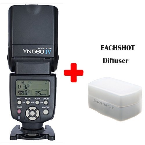 Price comparison product image Yongnuo YN-560 IV Flash Speedlite for Canon Nikon Pentax Olympus DSLR Cameras With EACHSHOT Diffuser