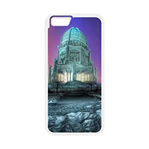 Iphone 6 Plus Case, temple winter Case for Iphone 6 Plus 5.5 screen White tcj574958 tomchasejerry