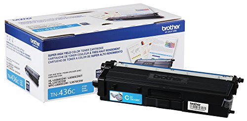 Brother Printer TN436C Super High Yield Toner- Retail Packaging , Cyan