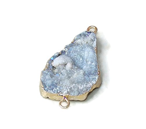 Galaxy Stone, Druzy Connector, Quartz Connector. Agate Druzy Quartz Pendant - 35mm - 45mm