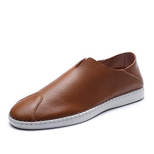 brown Comfort Lavoro Mocassini Slip fei Lazy Ginnastica amp; Scarpe ons 39 Shoes Traspirante Guida Uomo Spring Formale Gpf Suola Da Morbida wfqxHHAzY