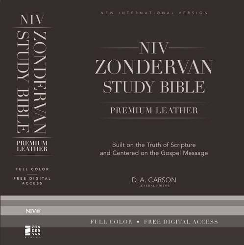 NIV Zondervan Study Bible, Premium Leather, Black