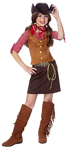 (OvedcRay Child Gun Slinger Girl Costume Wild West Western Cowgirl Kids Gunslinger)