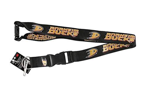 Falcontwins Anaheim Ducks Sports Collegiate Team Logo Clip Lanyard Keychain Id Holder Ticket - Black
