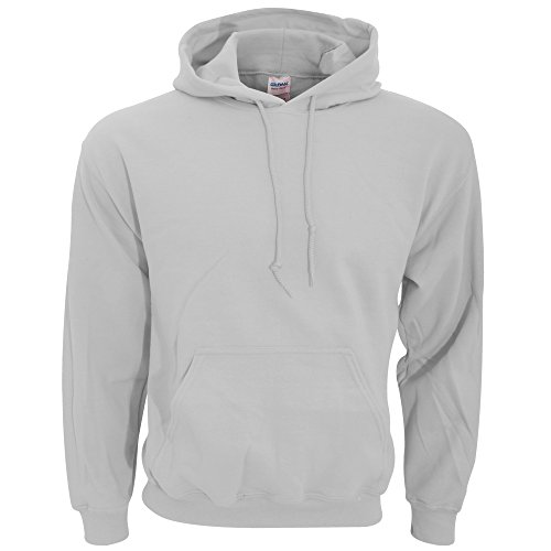 (Gildan Men's Heavyweight Blend Hooded Sweatshirt, Ash Grey,)