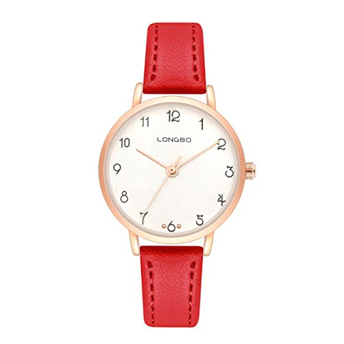Womens Quartz Digital Water-Proof Wrist Watch with Small Dial and Comfortable Leather Band Watches for Girl