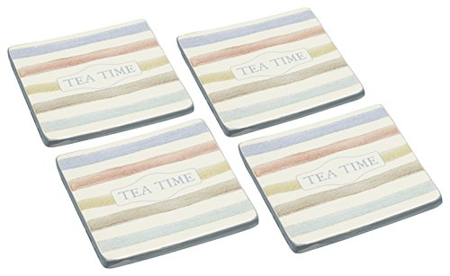 Kitchen Craft Classic Collection Vintage-Style Ceramic Drink Coasters (Set of 4)
