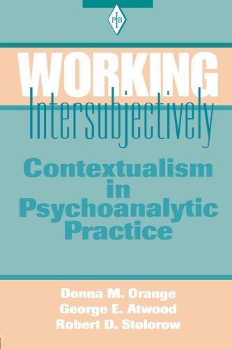 Working Intersubjectively: Contextualism In Psychoanalytic Practice (Psychoanalytic Inquiry Book Series)