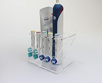 Soporte de cabezal de cepillo eléctrico para dientes soporte para 5 x cabeza de cepillo (