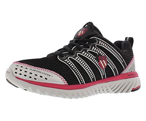 K-Swiss Women's Blade-Light Run Running Shoe,Black/Virtual Pink/Silver,10 M US