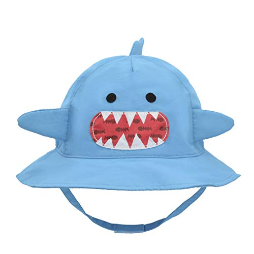 Baby Bucket Hat Animal - Toddler Boys Hats Quickly Dry Sun Protection Beach Hat (XXL 54/4-7 Years, Shark) ()