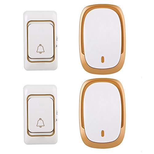 [해외]홈 오피스를위한 2V2 무선 초인종 홈 초인종 키트 송신기 및 수신기 디지털 도어 벨 200M 36 차임 모드 방수 초인종 / 2V2 Wireless Doorbell Home Doorbell Kit Transmitter and Receiver Digital Door Bell 200M 36 Chimes4 Chime Modes Waterproo...