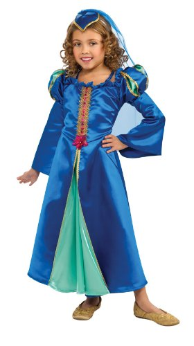 Renaissance Princess Costume, Blue, Medium
