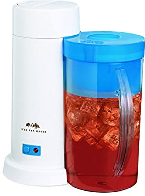 Mr. Coffee TM1 2-Quart Iced Tea Maker for Loose or Bagged Tea, Blue