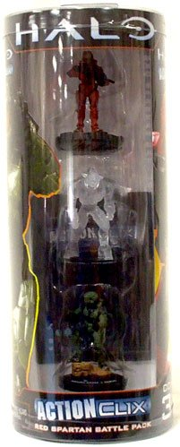 Halo ActionClix Trading Miniature Figure Game Red Spartan Battle (Halo Actionclix)