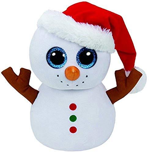 (Ty Beanie Boo's Scoop Snowman w/ Santa Hat)