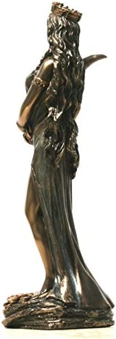 Griego Diosa Fortuna Tyche Suerte Frío Reparto Βronze Estatua 18.5cm//18.5cm