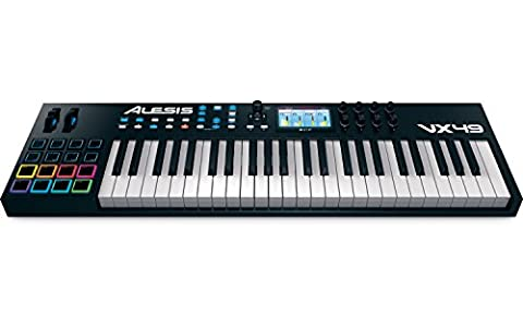 Alesis VX49 | 49-Key USB MIDI Keyboard & Drum Pad Controller with Full-Color Screen (8 Drum Pads+8 Switch Pads / 8 (Alesis Usb Midi)