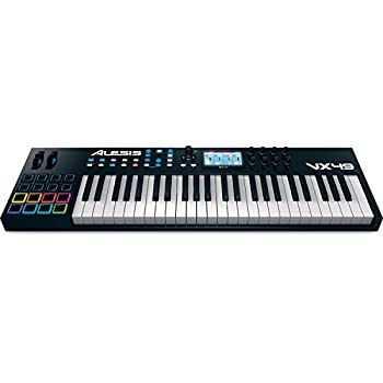 alesis vx49 49 key usb midi keyboard drum pad controller with full color screen. Black Bedroom Furniture Sets. Home Design Ideas