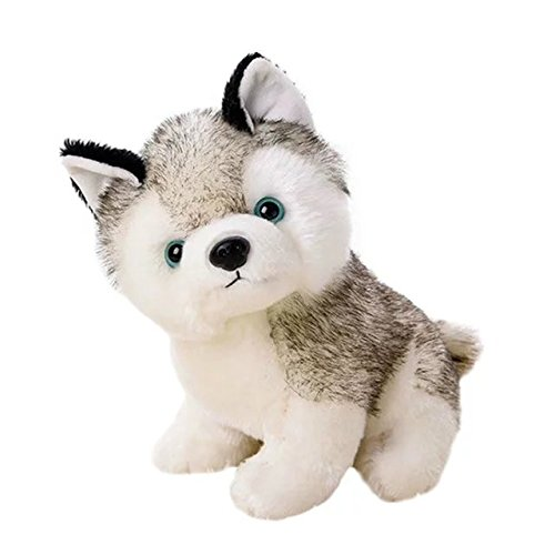 KateDy Cute Stuffed Husky Dog Plush Toy Dolls Baby Kids Pet Dog Play Toys Toddler Soft Plush Dog (Signature Husky Webkinz)