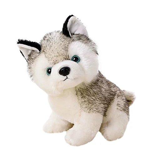 KateDy Cute Stuffed Husky Dog Plush Toy Dolls Baby Kids Pet Dog Play Toys Toddler Soft Plush Dog Toy,Boys Girls Birthday Gift Xmas Gift Set(S) - Infant Stuffy Costume