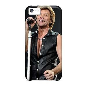 RitaSokul Iphone 5c Shock Absorption Hard Phone Cases Support Personal Customs Beautiful Bon Jovi Band Series [UFy11970jSeL]