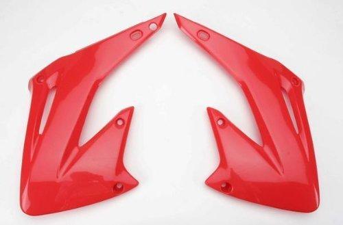 (UFO Plastics Radiator Cover Red for Honda CR 125R 250R 02-07)