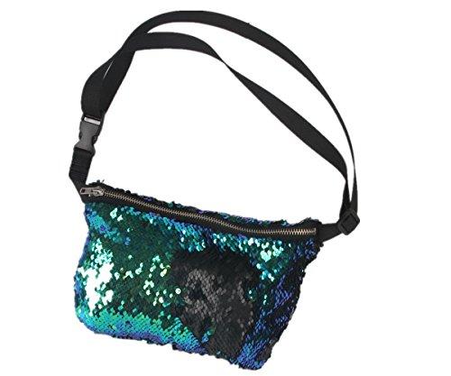 menglihua-womens-girls-magic-reversible-sequins-mermaid-casual-waist-shoulder-bags-blue-black-one-si