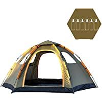 OILEUS 6 Person Tent Family Tents for Camping - Automatic...