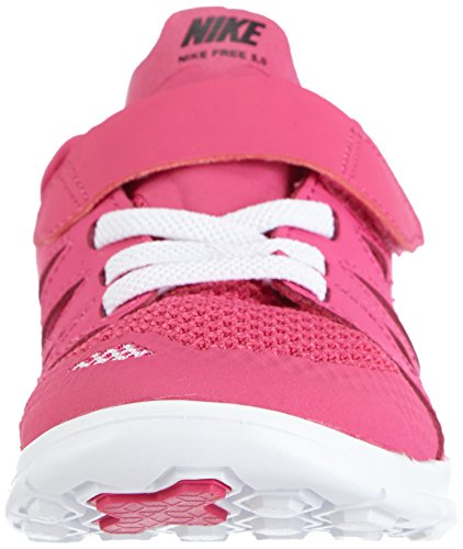 Nike Free 5.0 (PSV) - zapatillas de running de material sintético niña rosa - Pink (Hot Pink/Black-White)