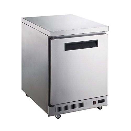 Dukers Appliance USA DUK600162377974 Dukers Commercial Undercounter Table Refrigerator, 1 Door, 29″ Width x 31″ Depth x 36″ Height, Silver, Stainless steel