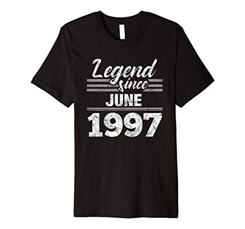 (22nd Birthday Gift Legend Since June 1997 Premium T-Shirt)