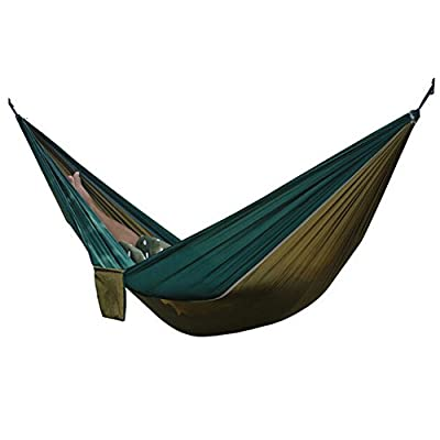 TOPBY Portable Parachute Nylon Fabric Double Travel Camping Hammock