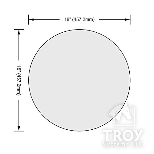 Glass Table Top: 18'' Round, 3/8'' Thick, Pencil Edge, Tempered Glass by Troy Systems LLC (Image #5)