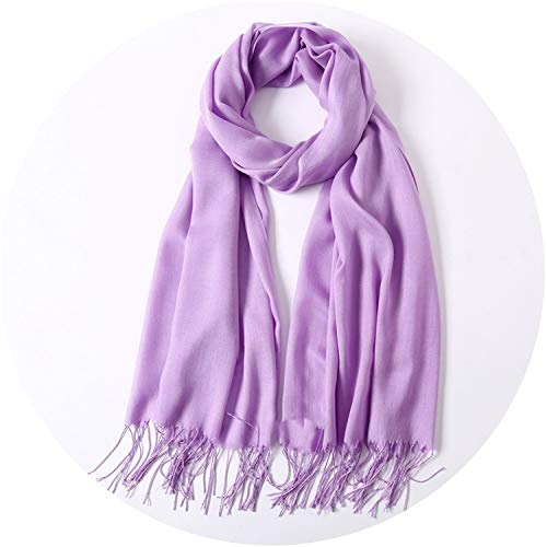 2018 classic scarf women scarves and wraps fashion solid female hijab pashmina winter,Violet,One Size