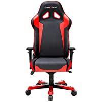 DXRacer Sentinel Series OH/SJ00/N Racing Seat Office Chair Gaming Ergonomic adjustable Computer Chair with - Included Head and Lumbar Support Pillows (Black, Red)