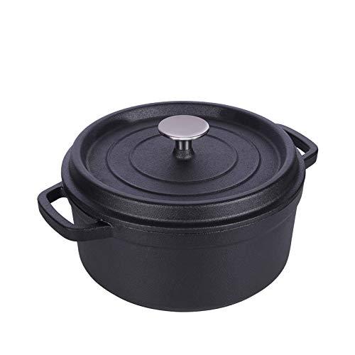 GJJ Cast Iron Pot Cast Iron Cooker, Soup Pot Deepened Uncoated 24Cm,Black,24Cm by GJJ (Image #8)