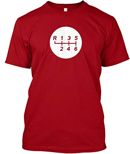 Manual Transmission Shift Pattern 1 XLT - Deep red Tshirt - Hanes Tagless Tee ()