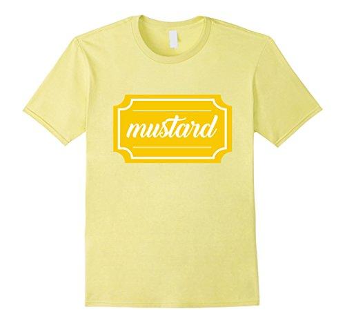 Men's Mustard Shirt, Funny Condiment Matching Halloween Costume 3XL Lemon (Ketchup And Mustard Costume)