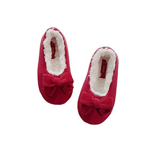 HALLUCI Kid's Ruby Red Ballerina Slipper (Large)
