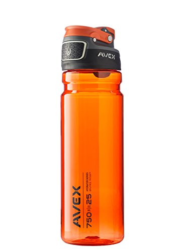 Avex FreeFlow Autoseal Water Bottle, Burnt Orange, 750ml/25 oz