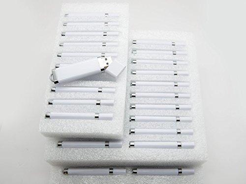 50 128MB Flash Drive - Bulk Pack -USB 128 MB 50 pcs 2.0 SnapCap Design in WHITE by SameDayFlash